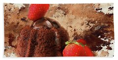 Hand Towel featuring the photograph Chocolate Explosion by Darren Fisher