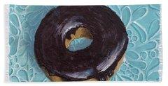 Chocolate Glazed Bath Towel by T Fry-Green