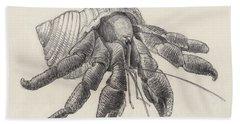 Chocolate Hermit Crab Hand Towel
