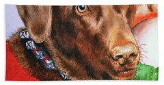 Chocolate Labrador Bath Towel