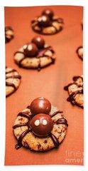 Chocolate Peanut Butter Spider Cookies Bath Towel