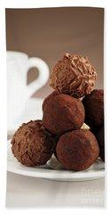 Chocolate Truffles And Coffee Hand Towel