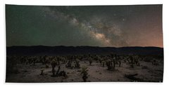 Cholla Cactus Garden Milky Way  Hand Towel