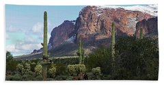Cholla  Saguaro Superstition Mountain Hand Towel