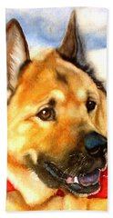 Chow Shepherd Mix Hand Towel by Marilyn Jacobson