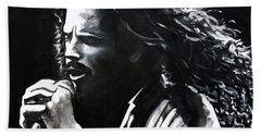Chris Cornell Bath Towel by Tom Carlton
