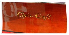 Chris Craft Logo Bath Towel by Michelle Calkins