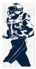 Chris Hogan New England Patriots Pixel Art Hand Towel