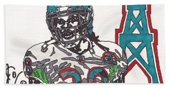 Chris Johnson  Hand Towel by Jeremiah Colley
