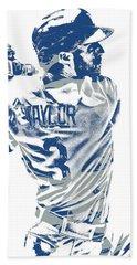 Chris Taylor Los Angeles Dodgers Pixel Art 5 Hand Towel