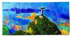 Christ Above All In Rio 1 - Pa Hand Towel