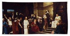 Christ Before Pilate Bath Towel