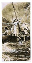 Christ Calming The Storm Hand Towel