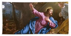 Christ In The Garden Of Olives Hand Towel
