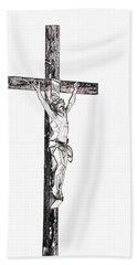 Christ On Cross Bath Towel