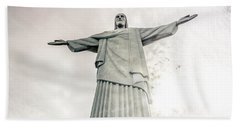 Christ The Redeemer Hand Towel by Andrew Matwijec