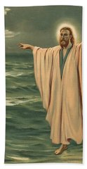 Christ Walking On The Sea Hand Towel