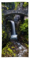 Christine Falls - Mount Rainer National Park Bath Towel