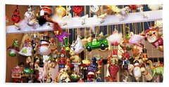Christkindlmarkt Ornaments Munich Bath Towel
