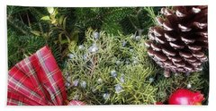 Christmas Arrangement Hand Towel