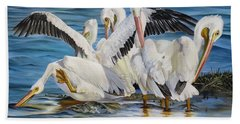 Hand Towel featuring the painting Christmas At Half Moon Island by Phyllis Beiser