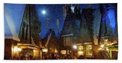 Christmas At Hogsmeade Blank Bath Towel