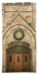 Christmas At Stone Chapel Hand Towel