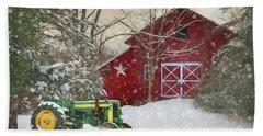 Christmas At The Barn Hand Towel