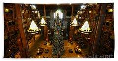 Christmas At The Lodge Hand Towel