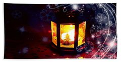 Christmas Candles Bath Towel