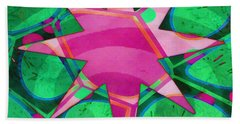 Christmas Celebration Abstract Painting Hand Towel
