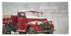 Christmas Chevy Bath Towel by Lori Deiter
