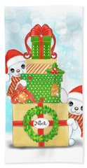 Christmas Chi Elves Bath Towel