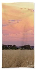 Hand Towel featuring the photograph Christmas Eve In Australia by Linda Lees