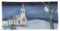 Hand Towel featuring the painting Christmas Eve by Jack G Brauer