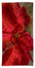 Christmas Flower Bath Towel