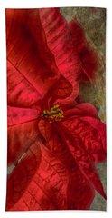 Bath Towel featuring the photograph Christmas Flower by Judy Hall-Folde