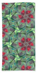 Christmas Flowers Hand Towel