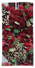 Christmas Heart Hand Towel by Linda Prewer