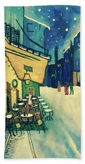 Christmas Homage To Vangogh Hand Towel by Victoria Lakes