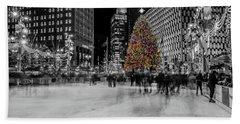 Christmas In Detroit  Hand Towel