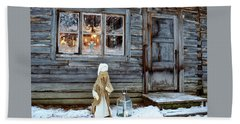 christmas in Scandinavia Bath Towel