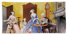 Christmas In The Royal Household Of Empress Maria Theresa Of Austria With Family Bath Towel
