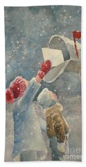 Christmas Letter Hand Towel by Marilyn Jacobson
