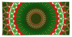 Christmas Mandala Fractal 004 Bath Towel