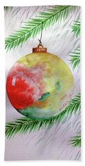 Christmas Ornament Hand Towel by Edwin Alverio