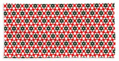 Christmas Paper Pattern Bath Towel