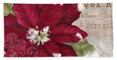 Christmas Poinsettia Hand Towel