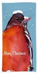 Christmas Robin Hand Towel
