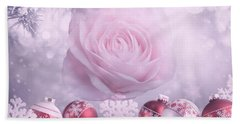 Christmas Rose Bath Towel